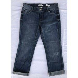 WHBM Cropped Jeans Embroidered Ankle Pants NWT